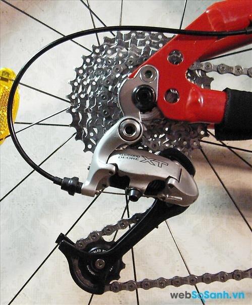Cần chú ý đến bộ lắc xe đạp leo núi