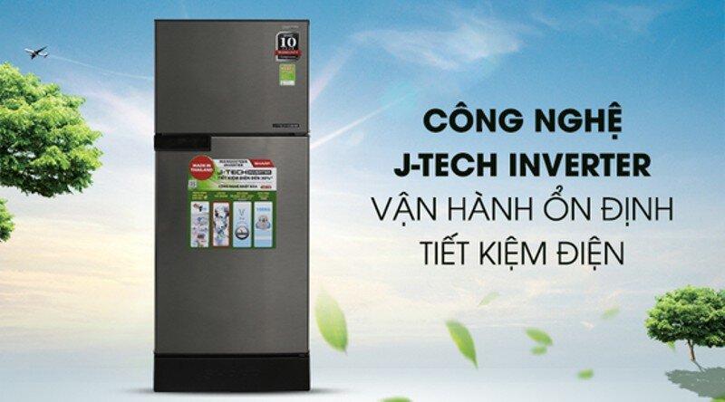 Với công nghệ J-Tech Inverter giúp tủ lạnh Sharp SJ-X176E vận hành ổn định với 36 cấp độ làm lạnh.