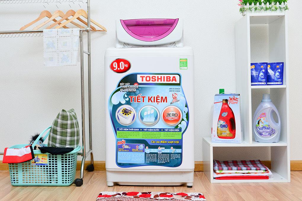 Máy giặt Toshiba có thiết kế tinh tế, hiện đại