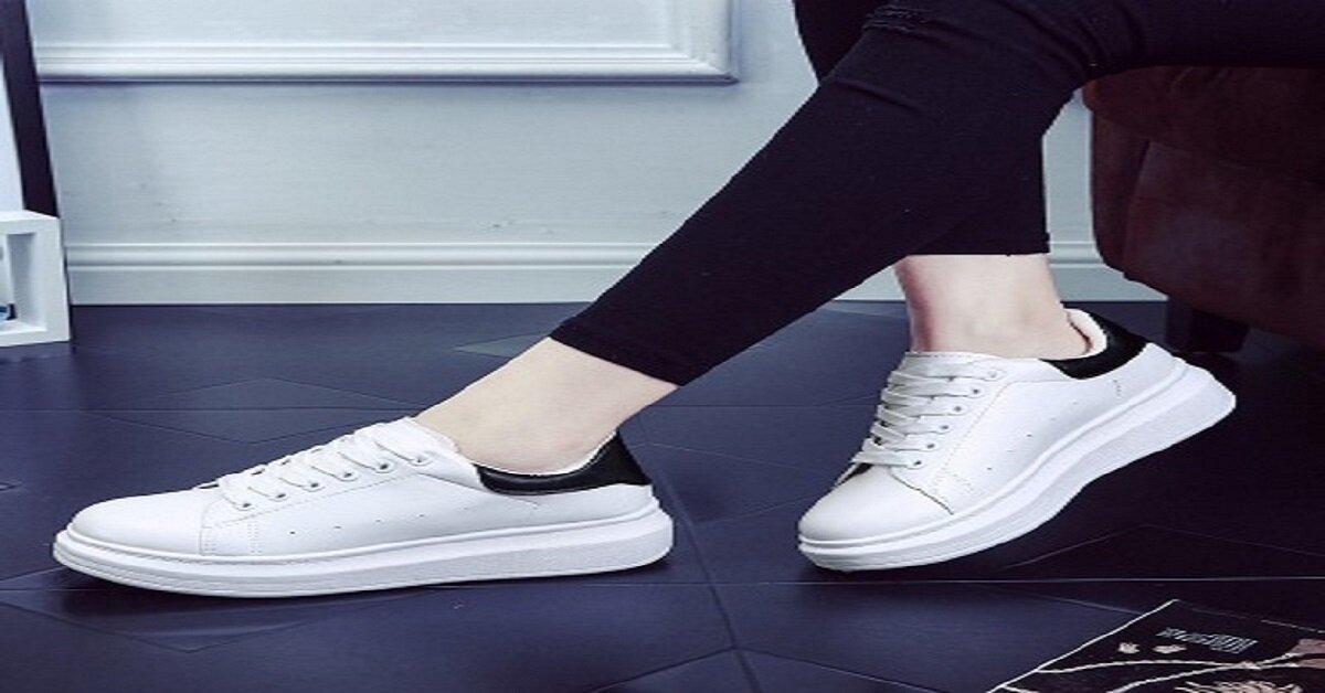 giày thể thao nữ hàn quốc màu trắng domba
