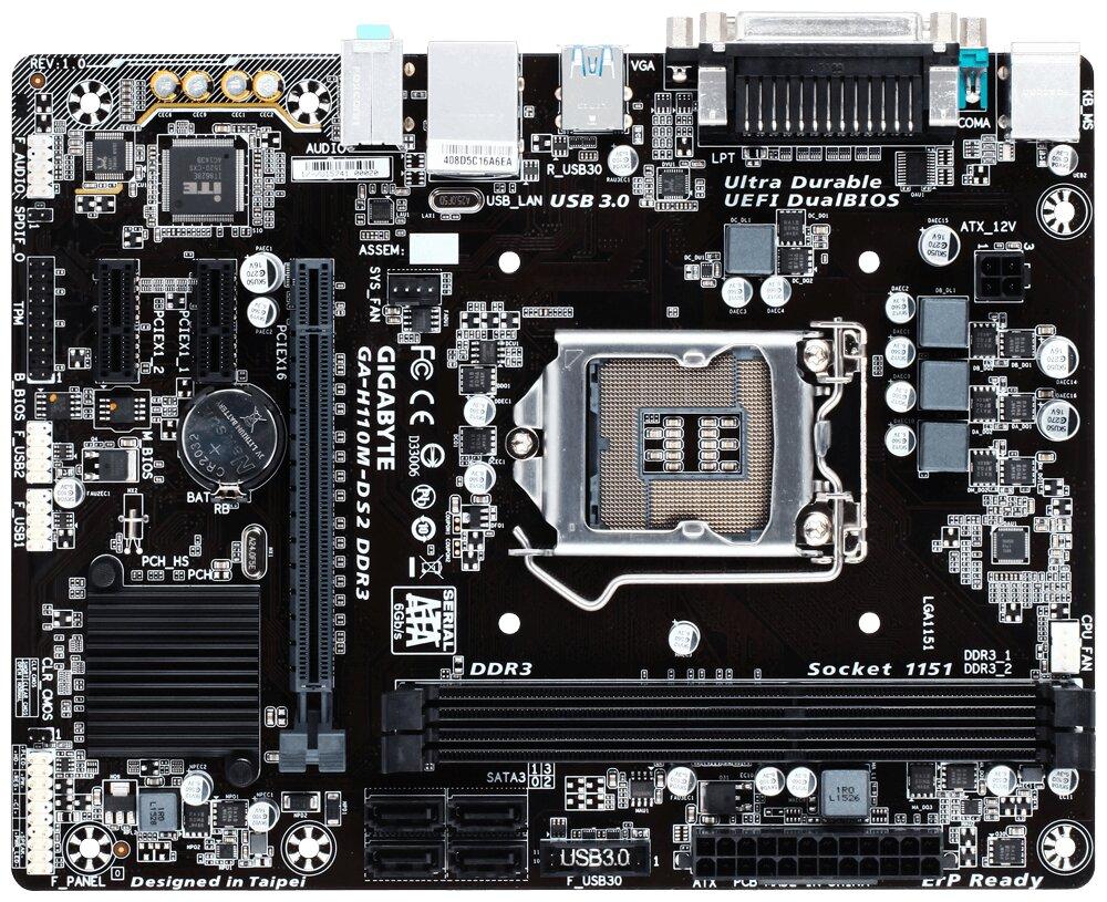 Bo mạch Gigabyte GA-H110M-DS2 DDR3 uy tín chất lượng