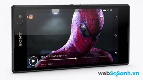 Sử dụng màn hình LCD IPS và sử dụng công nghệ Sony Mobile BRAVIA Engine 2 giúp màn hình Sony Xperia C3 Dual sắc nét và sống động