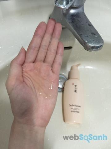 sữa rửa mặt dịu nhẹ Sulwhasoo review