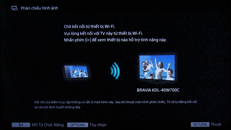 tivi không hiển thị màn hình điện thoại