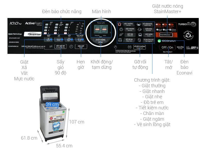 Máy giặt Panasonic NA-FS10V7LRV