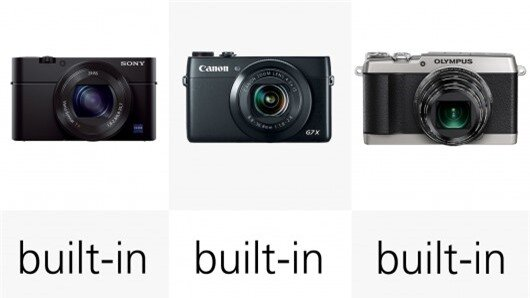 Built-in flashes mean that any of these cameras can be used in situations where there isn'...