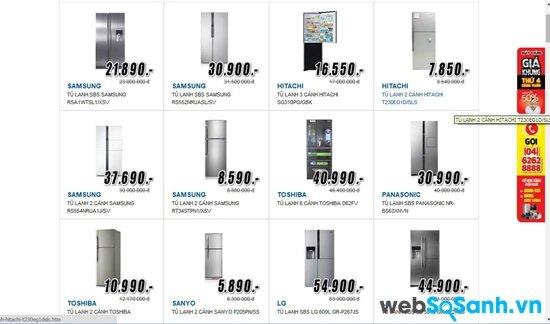 Mediamart đồng loạt giảm giá tủ lạnh