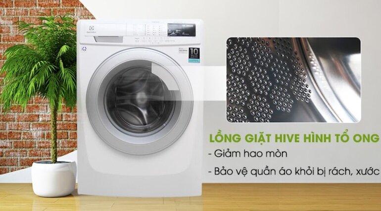 Lồng giặt được thiết kế theo công nghệ Hive hình tổ ong