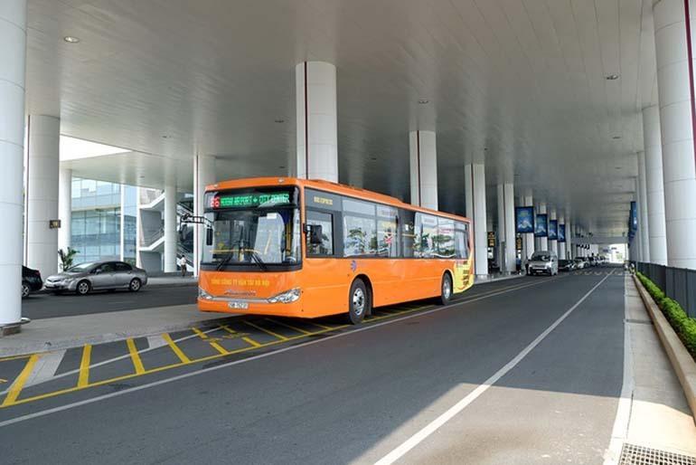 giá xe buýt sân bay nội bài