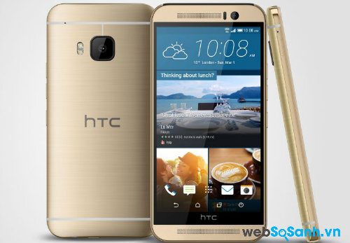 HTC One M9 bản màu vàng.