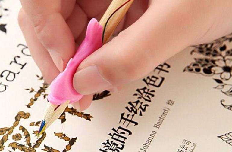 Combo 10 miếng đệm tay cầm bút cho bé yêu (nhiều màu)