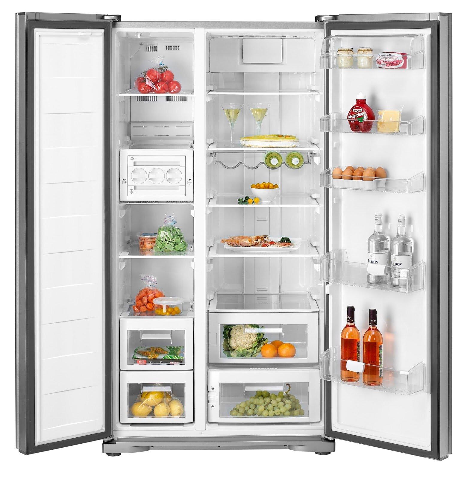 Tủ lạnh side by side Panasonic có thể trữ được rất nhiều thực phẩm, đa dạng