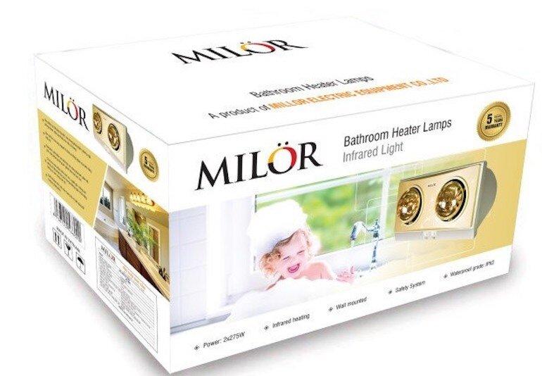 Giá thành của đèn sưởi Milor 2 bóng.