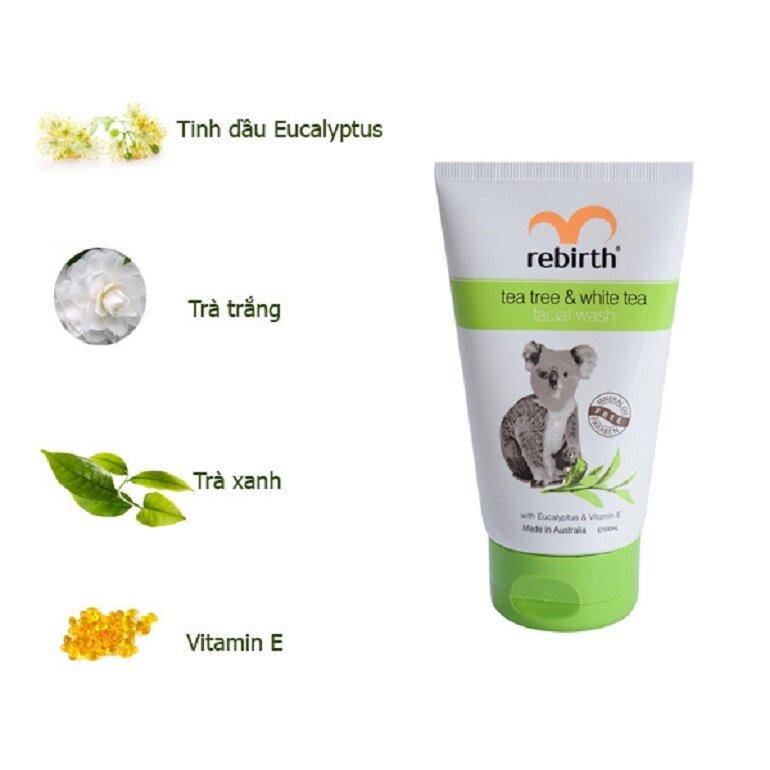 Sữa rửa mặt Rebirth Tea tree & White tree Facial Wash