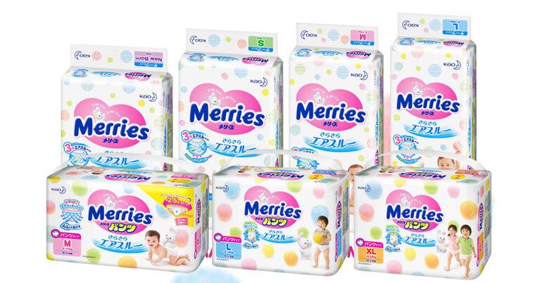 Bỉm Merries là thương hiệu nổi tiếng và uy tín hàng đầu thế giới của Tập đoàn Kao (Nhật Bản)