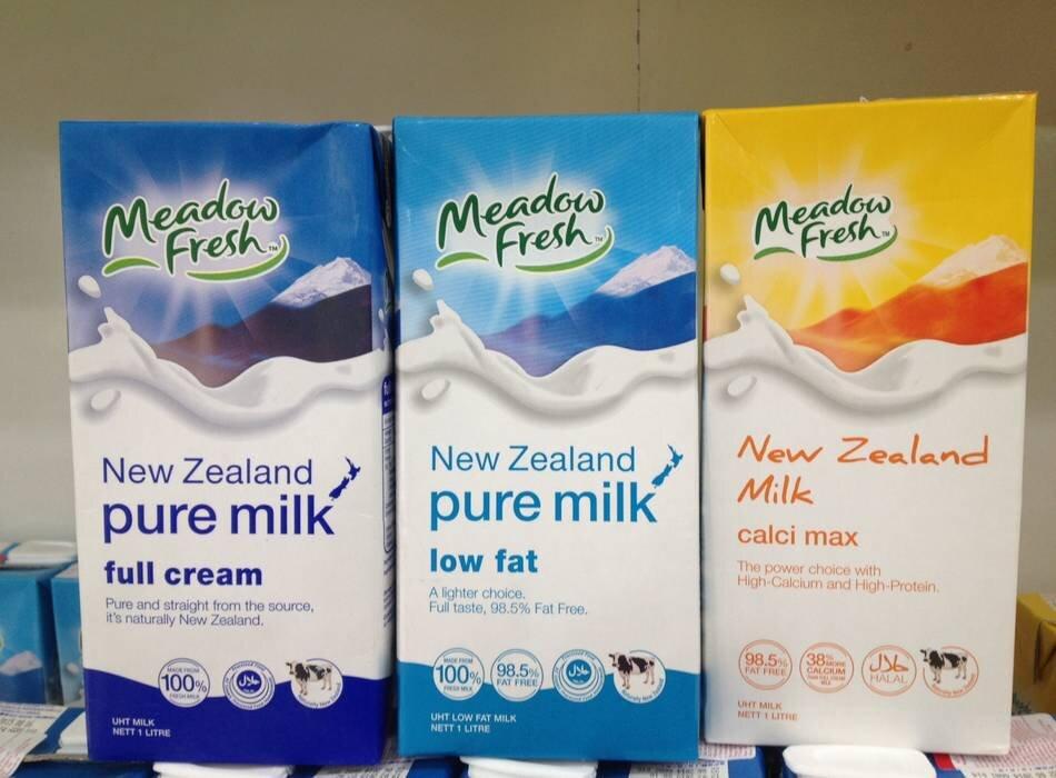 Các dòng sữa Meadow Fresh được ưa chuộng hiện nay