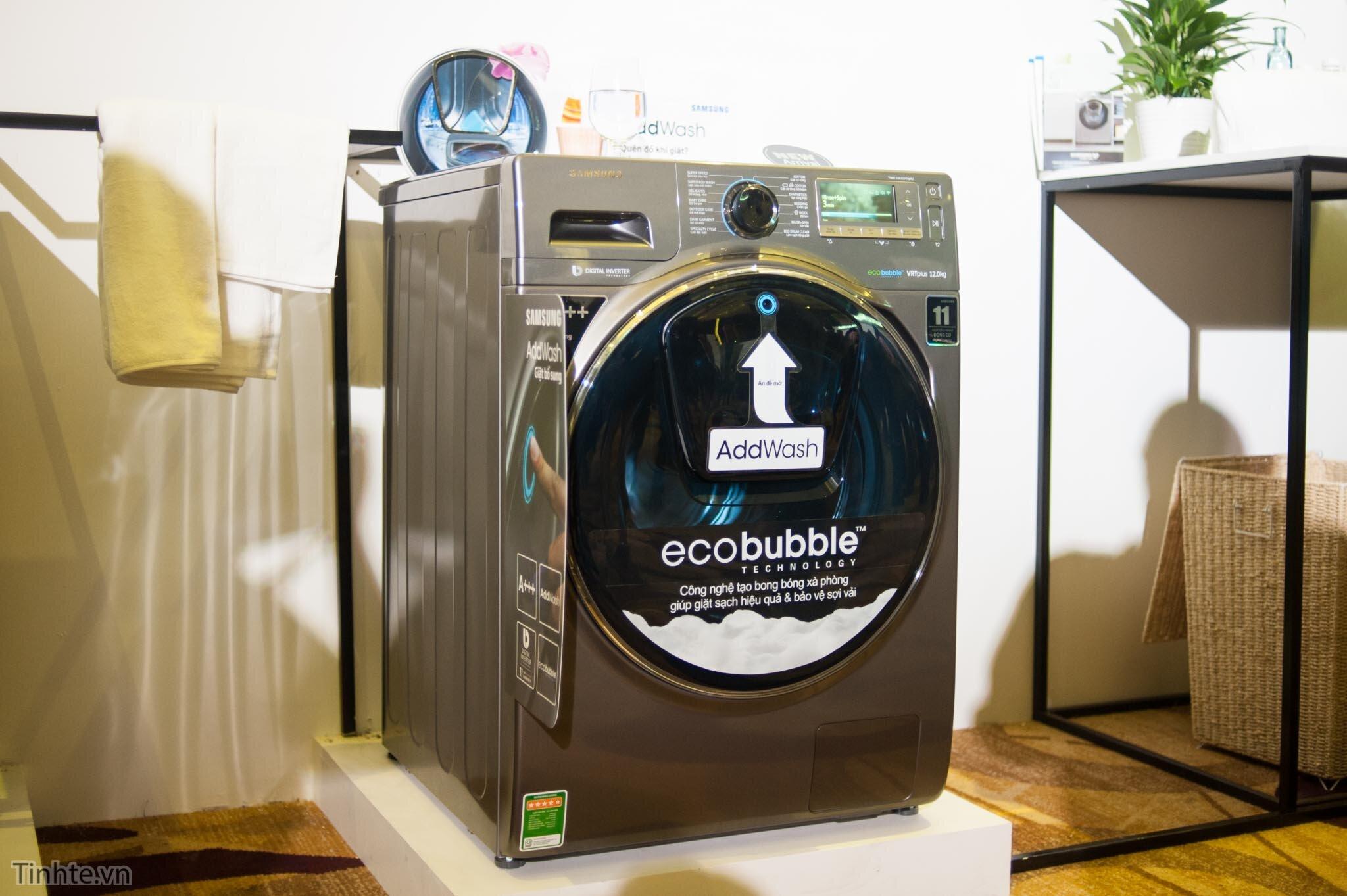 Máy giặt Samsung Add Wash và công nghệ Eco bubble