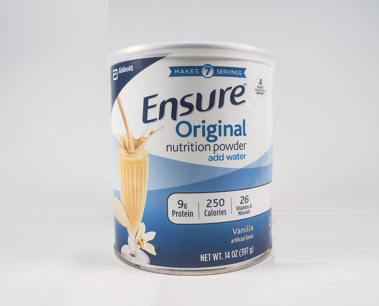Sữa bột Ensure có hệ dưỡng chất phù hợp với bệnh nhân tiểu đường