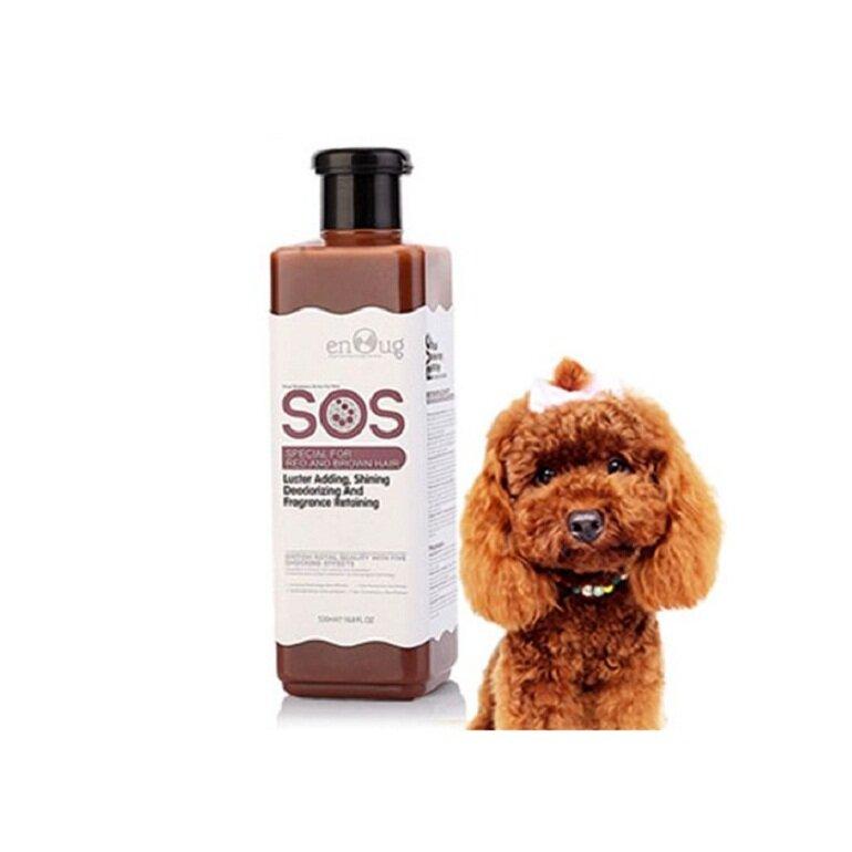 Sữa tắm SOS màu nâu cho chó poodle nâu đỏ