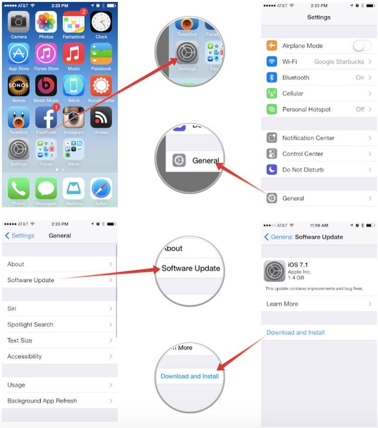 Cách nâng cấp iOS mới nhất cho iPhone