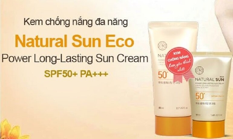 Kem chống nắng The Face Shop Natural Sun Eco Power Long Lasting Sun Cream SPF 50 PA+++