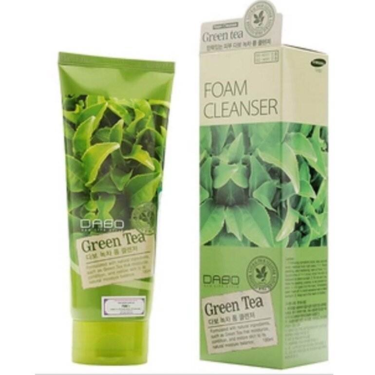 Sữa rửa mặt giúp trắng da Dabo Green Tea Foam Cleanser