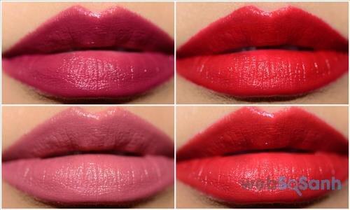 Màu Poppy (RD312), Real Rubby (RD502), Red Queen (RD716), Rose Crush (RD715)