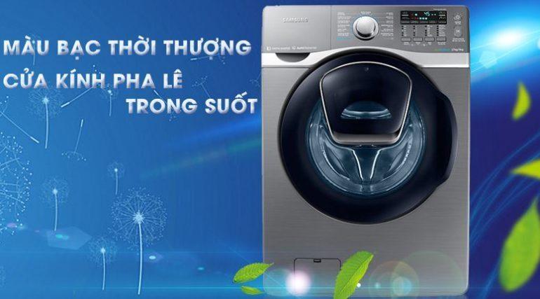 Máy giặt Samsung Add Wash WD17J7825KP/SV được nhập khẩu nguyên chiếc từ Hàn Quốc