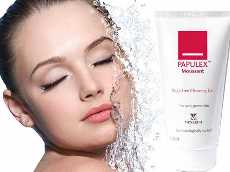 Chi tiết về sữa rửa mặt Papulex dành cho da mụn
