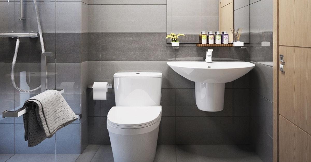 chọn bồn cầu 1 khối phù hợp với phòng tắm