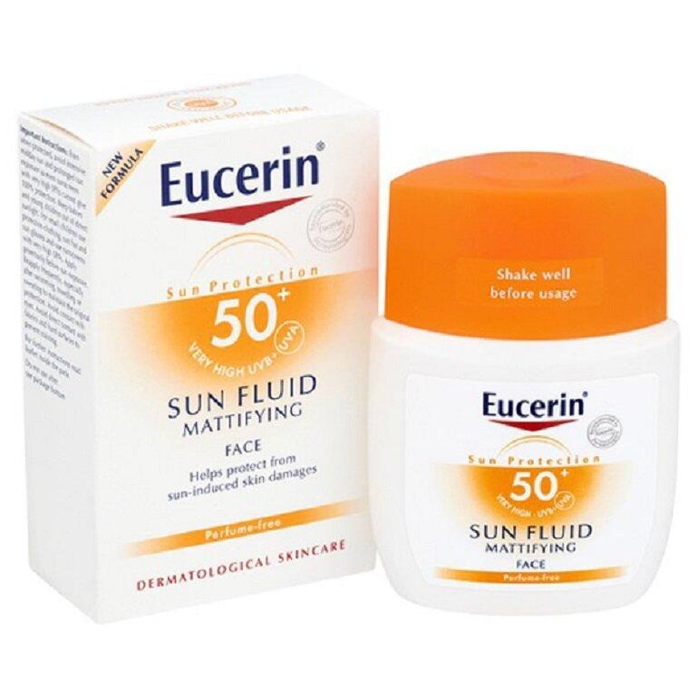 Kem chống nắng Eucerin Sun Fluid Mattifying Face SPF 50