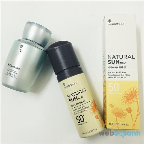The Face Shop Natural Sun Eco Ice Air Puff Sun SPF50
