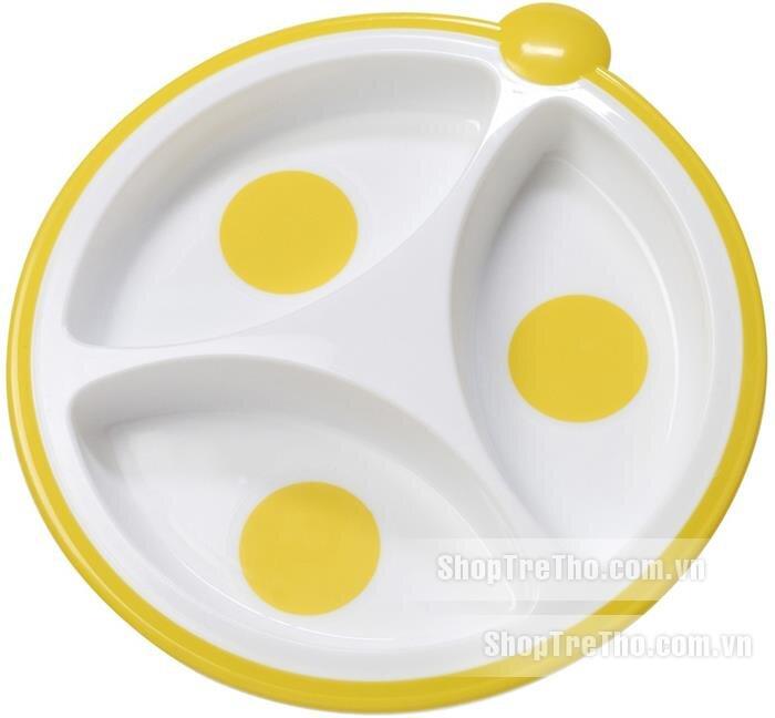 Đồ dùng ăn dặm Dr.Brown 725 - Bộ 2 đĩa ăn dặm chia 3 ngăn