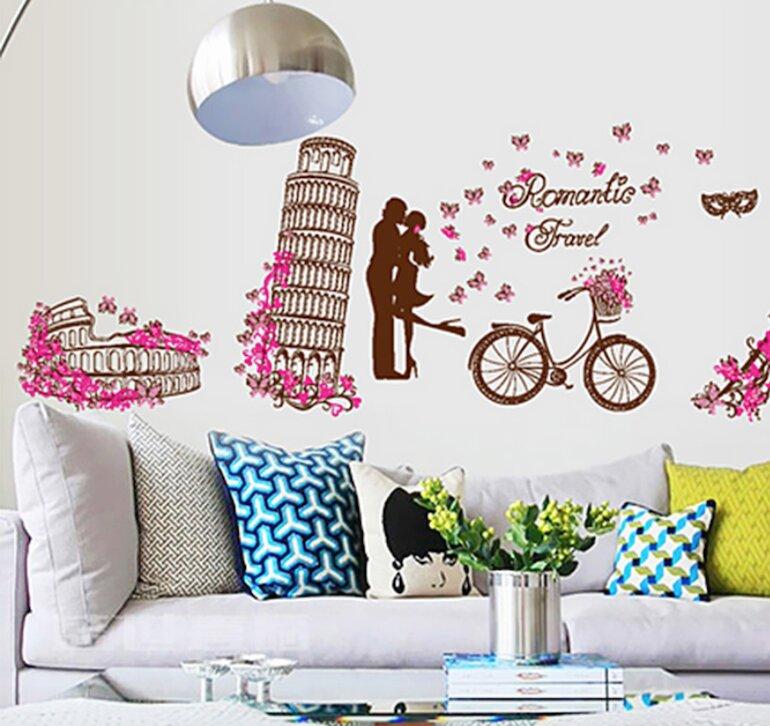 Decal dán tường giúp trang trí ngôi nhà của mình với nhiều màu sắc bắt mắt