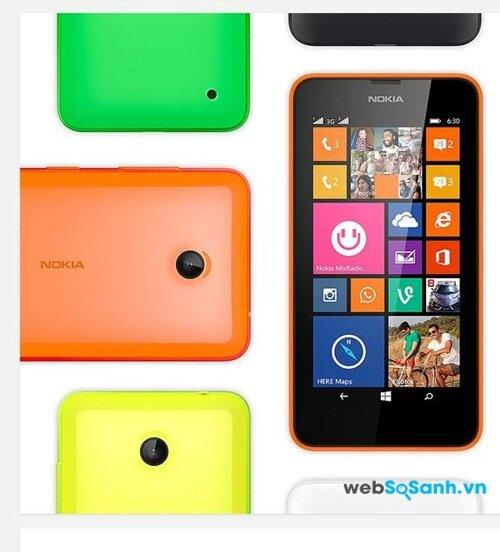 Lumia 630 sở hữu bộ vi xử lý lõi tứ tốc độ 1.2 Ghz