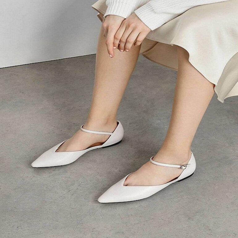 giày búp bê có quai đế bệt