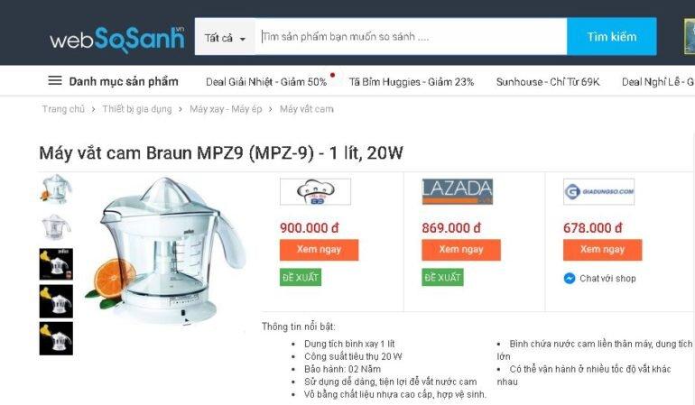 Máy vắt cam Braun MPZ9 của Đức - Giá rẻ nhất 640.000 vnđ
