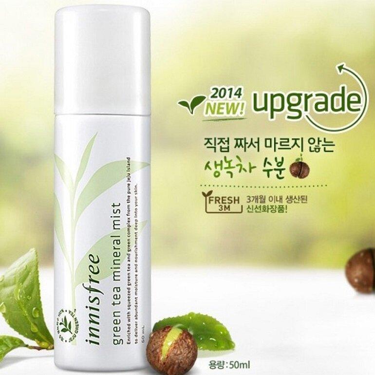 Xịt khoáng cho da dầu mụn Innisfree Green Tea Mineral Mist