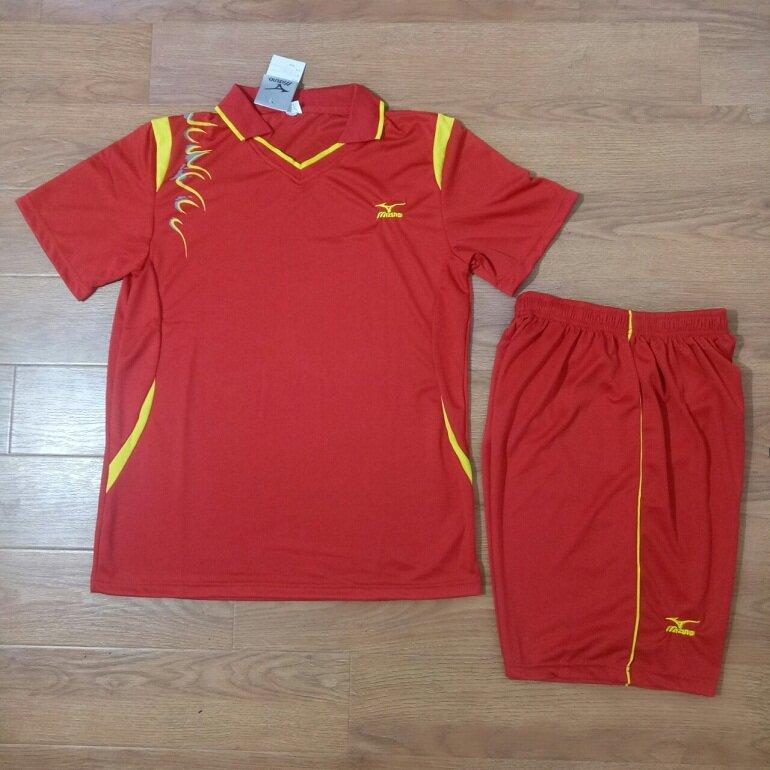 Bộ quần áo thể thao bóng chuyền Mizuno đỏ