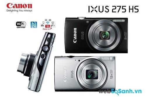 Máy ảnh du lịch Canon IXUS 275 HS được tích hợp sẵn những tính năng như GPS và wireless và kết nối NFC