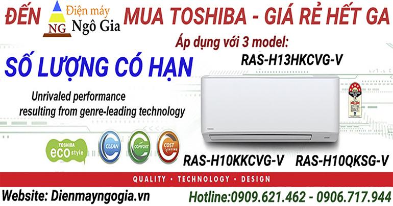 Top 3 mẫu máy lạnh Toshiba giá cực sốc cuối năm 2018