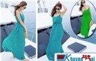 Đầm Maxi đi biển 2015