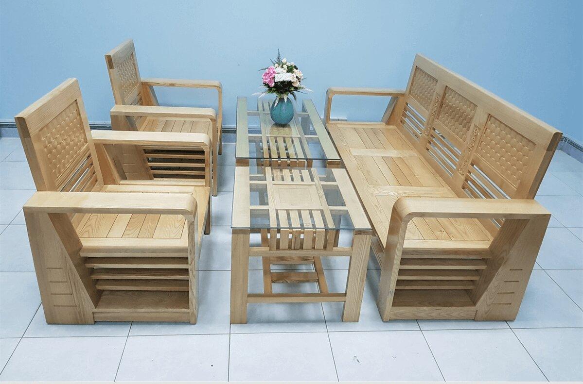 Bộ sofa gỗ sồi Nancot