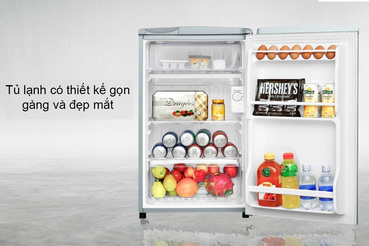 Aqua AQR-95AR SS – tủ lạnh gia đình giá rẻ và chất lượng