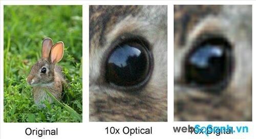 so sánh zoom quang học với zoom kỹ thuật số