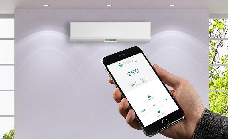 Bạn cũng có thể điều khiển máy lạnh Mitsubishi thông qua ứng dụng trên điện thoại