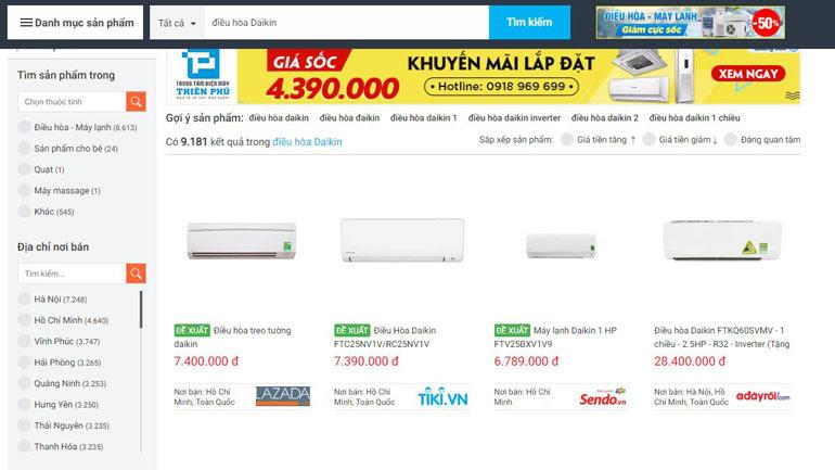 Tra cứu sản phẩm tại Websosanh.vn