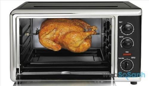Lò nướng sử dụng sức nóng từ thanh kim loại để làm chín đồ ăn