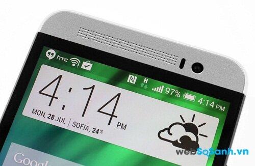HTC One E8 có camera trước 5MP ấn tượng hơn của Galaxy Alpha