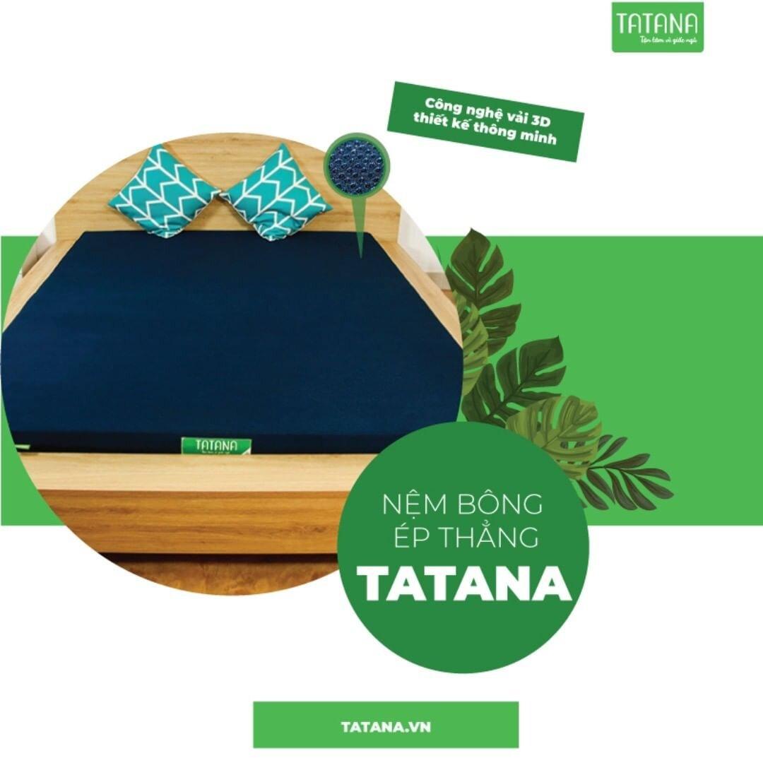Nệm bông ép thẳng Tatana với công nghệ vải 3D thiết kế thông minh